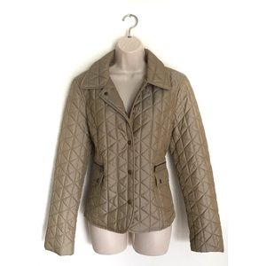 LOFT Tan Quilted Puffer Jacket